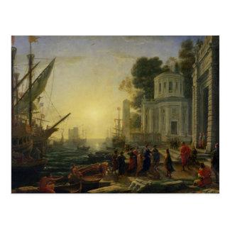 Kleopatra, die an Tarsus, 1642 ausschifft Postkarte
