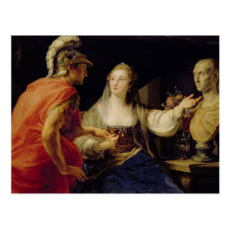 Kleopatra, die Octavius den Fehlschlag von Julius Postkarte
