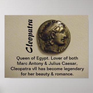 Kleopatra-Königin von Ägypten-Druck Poster