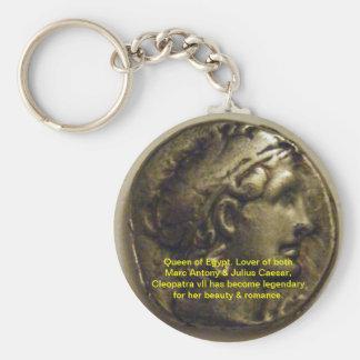 Kleopatra-Königin von Ägypten Keychain Standard Runder Schlüsselanhänger
