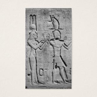 Kleopatra und Caesarion auf dem Tempel von Hathor Visitenkarten