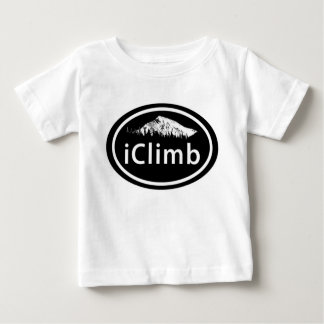 "Kletternder ""iClimb"" ovaler Berg etikettieren Baby T-shirt"