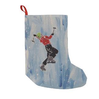 Kletternder Strumpf des Eises Kleiner Weihnachtsstrumpf