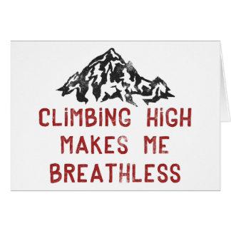Kletterndes Hoch macht mich atemlos Karte