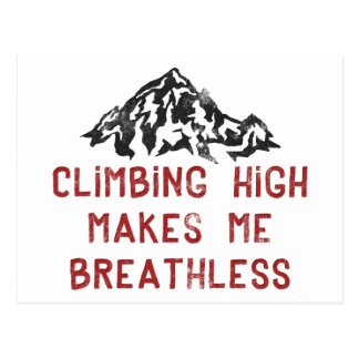 Kletterndes Hoch macht mich atemlos Postkarte