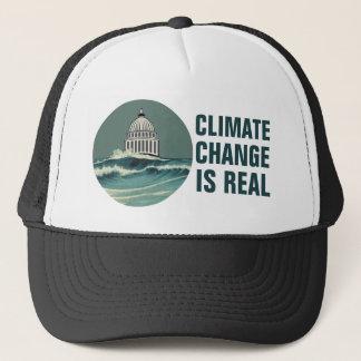 Klima-Änderung ist wirkliche versenkte Truckerkappe