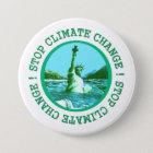 Klima-Änderungs-globale Erwärmung Runder Button 7,6 Cm