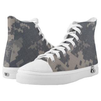 Klimaanlage-Art-Camouflage-Entwurf Hoch-geschnittene Sneaker