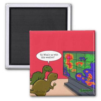 Klimawandel-Dinosaurier Quadratischer Magnet