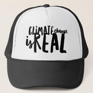 Klimawandel ist wirklicher Fernlastfahrer-Hut Truckerkappe