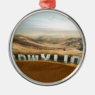 Klimawandelhollywood-Wüsten-Wetter-Änderung Silbernes Ornament