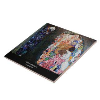 "Klimt , "" Death and Life "" Keramikfliese"