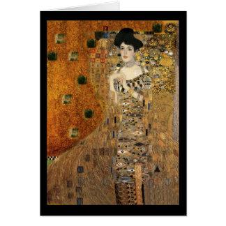 Klimts Porträt Adele Bloch-Bauer Grußkarte