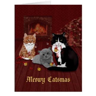 Klingel-Bell-Katzen-Weihnachten Karte