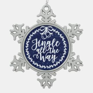 Klingel-Bell-Zinn-Schneeflocke-Verzierung Schneeflocken Zinn-Ornament
