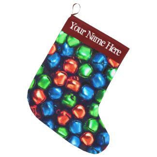 Klingel-vollständig Rot, Grünes u. Blaues großes Großer Weihnachtsstrumpf