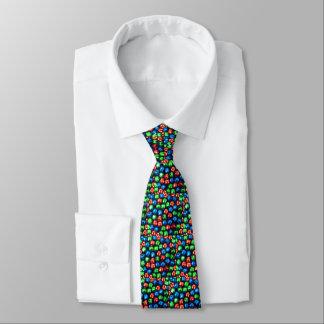 Klingel-vollständig rotes, grünes u. blaues Jingle Bedruckte Krawatte