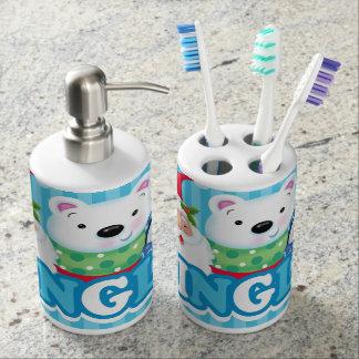 Klingel-Zahnbürste-Halter und Seifen-Zufuhr Badset