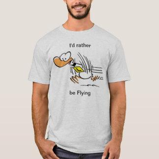 Klingeln-Enten-lustiges Fliegen-Shirt T-Shirt
