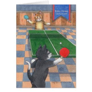 Klingeln Pong Katzen-Geburtstags-Knospe u. Tony Grußkarte