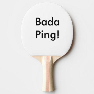 Klingeln Pong Paddel Bada Klingeln! Tischtennis Schläger