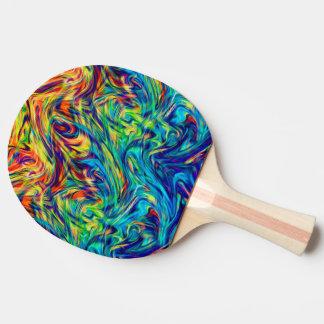 Klingeln Pong Paddel-Flüssigkeits-Farben Tischtennis Schläger