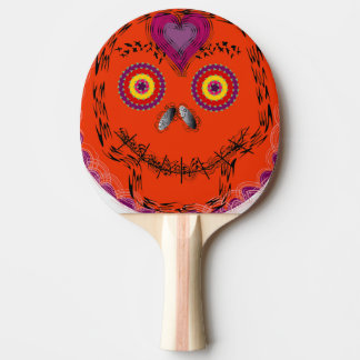 Klingeln Pong Paddel mit Halloween stellen Tischtennis Schläger