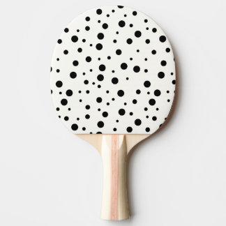 Klingeln Pong Paddel, schwarze Gummi-Rückseite Tischtennis Schläger