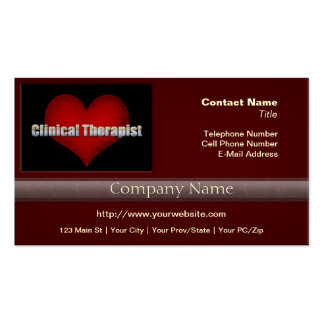 Klinischer Therapeutchrom-Schriftart und rotes Visitenkarten