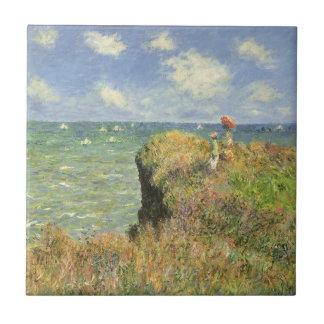 Klippen-Weg bei Pourville durch Claude Monet Keramikfliese