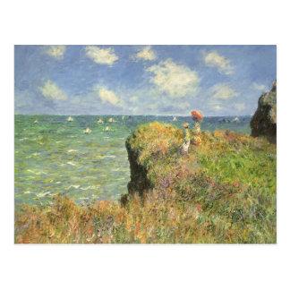 Klippen-Weg bei Pourville durch Claude Monet Postkarte