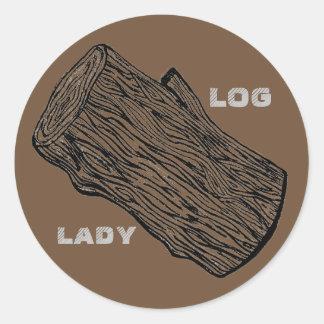 Klotz-Dame Sticker