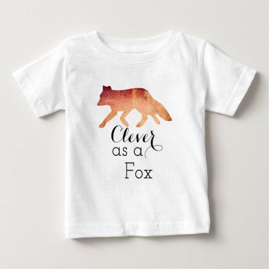 Klug als typografisches Aquarell Fox Baby T-shirt