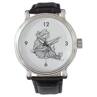 Kluger Frauen-Großmutter-Skizze-Entwurf Uhr