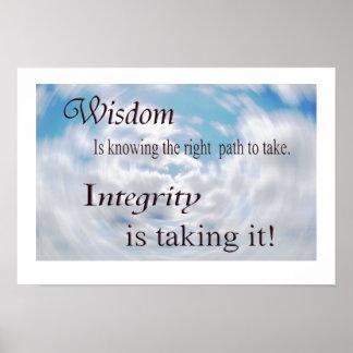Klugheit und Integrität Poster