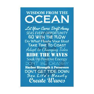 Klugheit vom Ozean Leinwanddruck