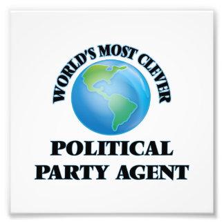 Klügster politischer das Party-Agent der Welt Photodruck