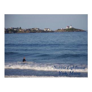Klumpen-Leuchtturm, York, Maine Postkarte