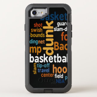 Knall-Reise Spitze-weg Basketball-Feld-Text OtterBox Defender iPhone 8/7 Hülle