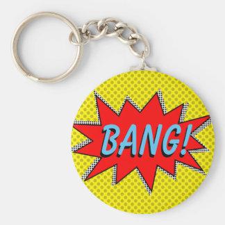 KNALL! Superheld Keychain Schablone Standard Runder Schlüsselanhänger