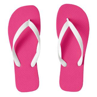 Knallrosa Normallack fertigen es besonders an Flip Flops
