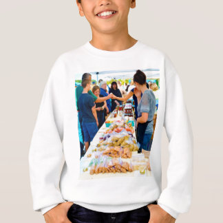 Knoblauch-Spezialitäten-Einzelteile Sweatshirt