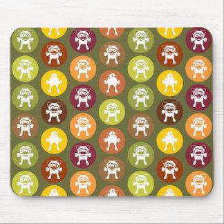 Knochen! Kreis-Druck-Herbst-Farben Mousepads