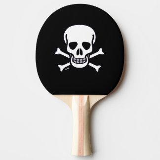 Knochen-Schwarz-Klingeln pong Paddel des Schädel-n Tischtennis Schläger