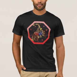 Knockdown-Schwarzes T-Shirt