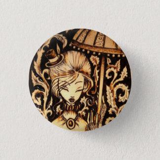 Knopf-Button Allison Steampunk Runder Button 3,2 Cm