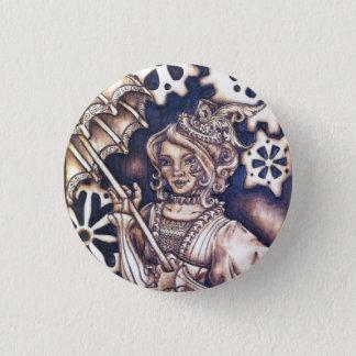 Knopf-Button Victorias Steampunk Runder Button 2,5 Cm