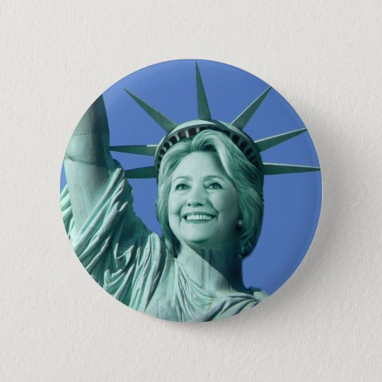 Knopf Damen-Liberty Hillary Clinton Runder Button 5,7 Cm