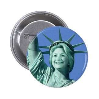 Knopf Damen-Liberty Hillary Clinton Runder Button 5,7 Cm