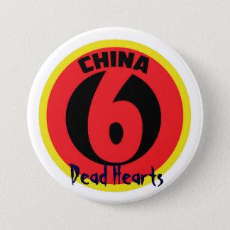 Knopf der China sechs - tote Herz-Romane Runder Button 7,6 Cm